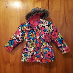 HANNA ANDERSSON Floral Down Hooded Jacket Sz7